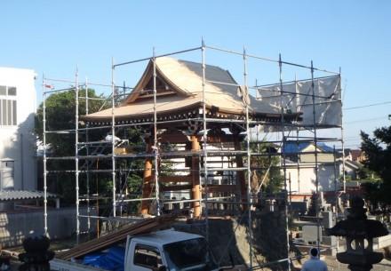 海津の圓心寺様  鐘楼堂改修工事