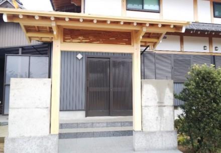 稲沢市の聯芳寺様の数寄屋門