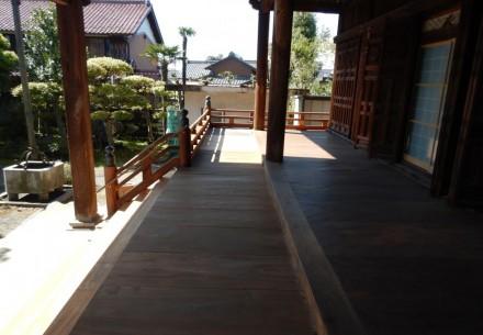 羽島郡笠松町 称名寺 浜縁高欄修復工事